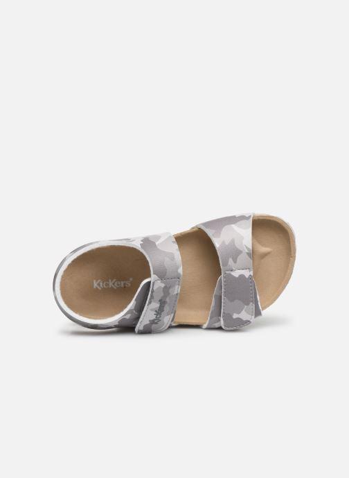 Sandales et nu-pieds Kickers Summerkro Gris vue gauche