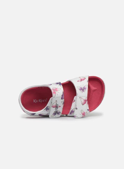 Sandales et nu-pieds Kickers Summerkro Blanc vue gauche