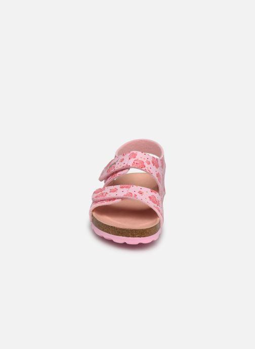 Sandalen Kickers Summerkro rosa schuhe getragen
