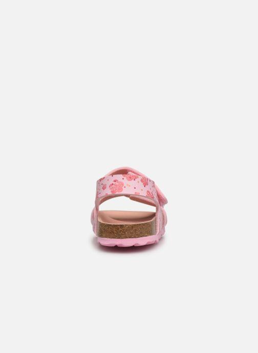 Sandalen Kickers Summerkro rosa ansicht von rechts