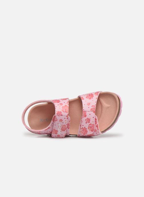Sandalen Kickers Summerkro rosa ansicht von links