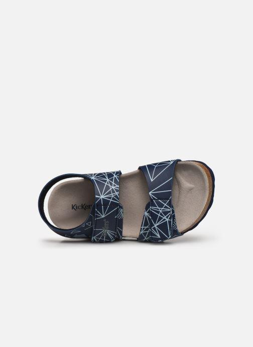 Sandali e scarpe aperte Kickers Summerkro Azzurro immagine sinistra
