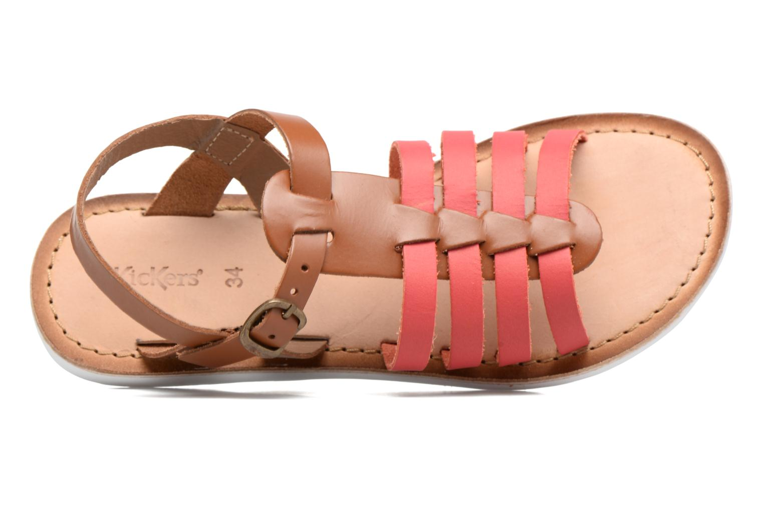 Sandalen Kickers Sparta Roze links