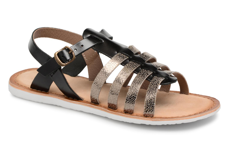 Sandales et nu-pieds Kickers Sparta Noir vue détail/paire