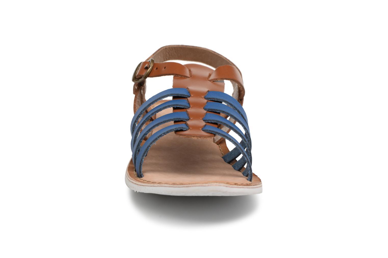 Sandales et nu-pieds Kickers Sparta Bleu vue portées chaussures