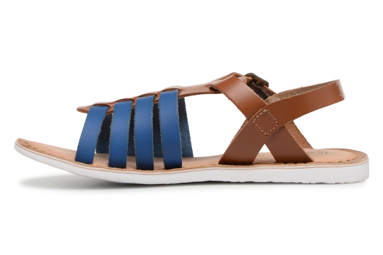Sandales et nu-pieds Kickers Sparta Bleu vue face