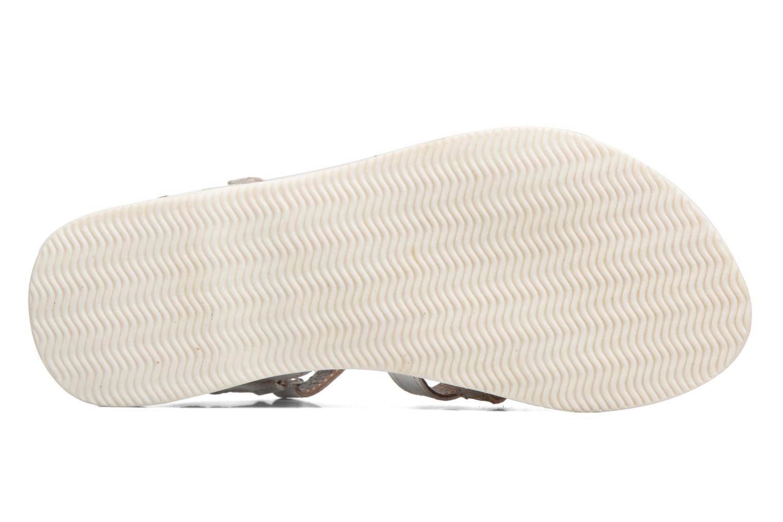 Sandales et nu-pieds Kickers Farah Blanc vue haut