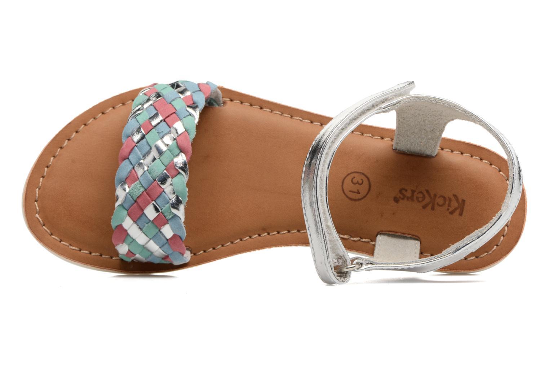 Sandales et nu-pieds Kickers Brazil Multicolore vue gauche