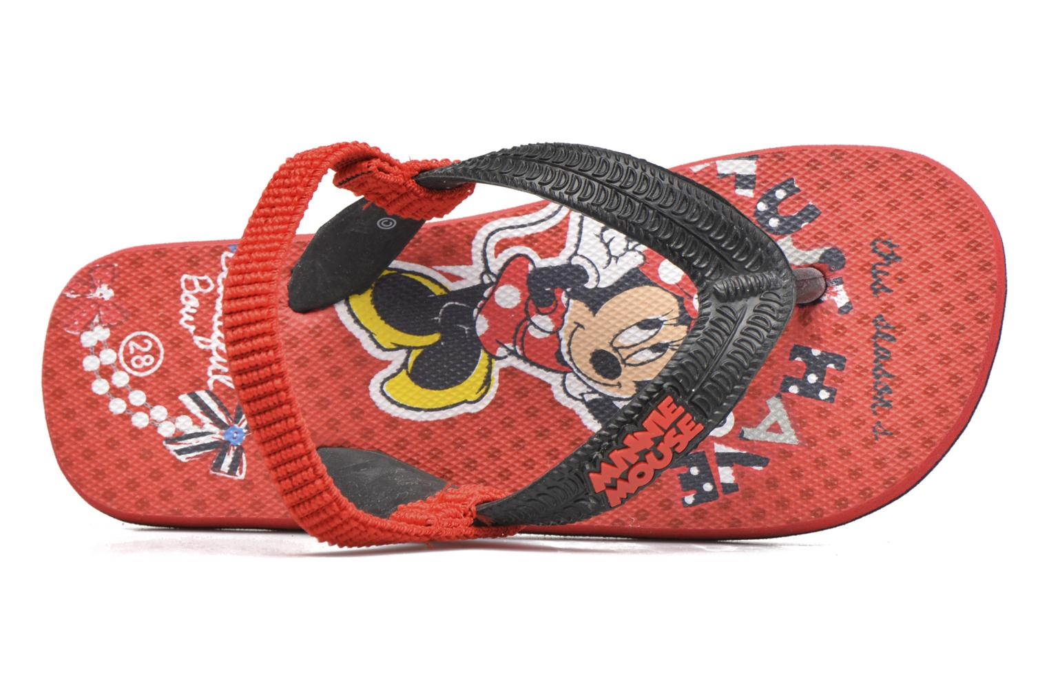 Tongs Minnie Pipa Rouge vue gauche
