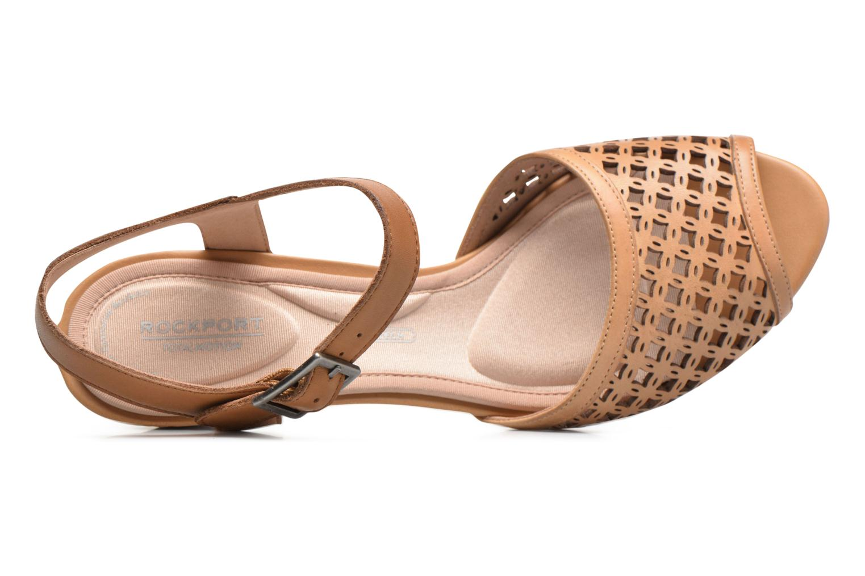 Sandali e scarpe aperte Rockport Audrina Laser 2 Piece Marrone immagine sinistra