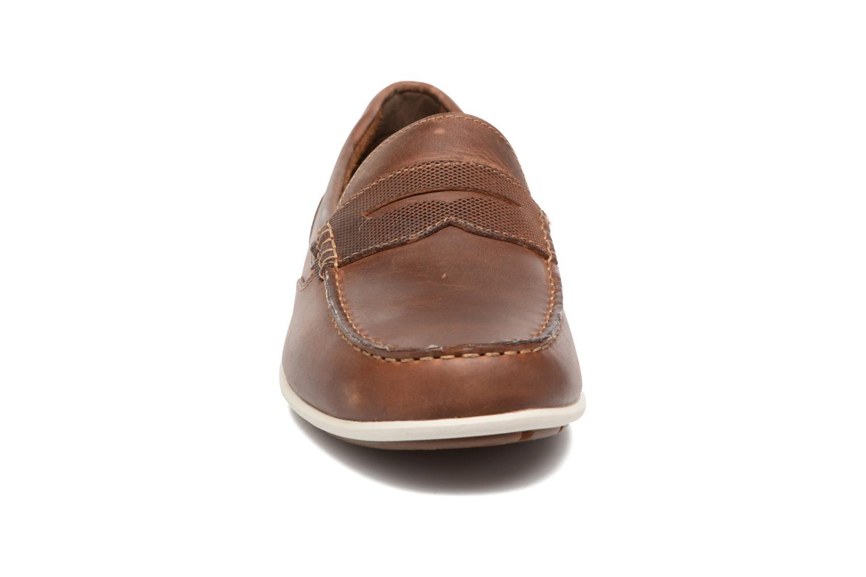 Mocassins Rockport Bl4 Penny Marron vue portées chaussures