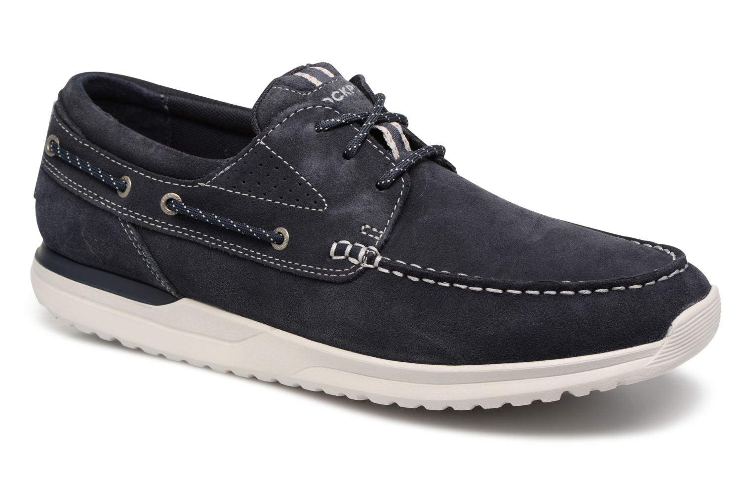Lace-up shoes Rockport Langdon 3 Eye Ox Blue detailed view/ Pair view