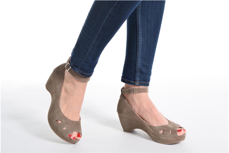 Sandales et nu-pieds Khrio Cylia Bleu vue bas / vue portée sac