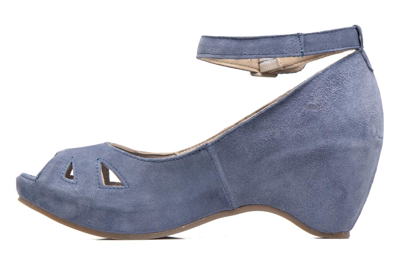 Sandales et nu-pieds Khrio Cylia Bleu vue face