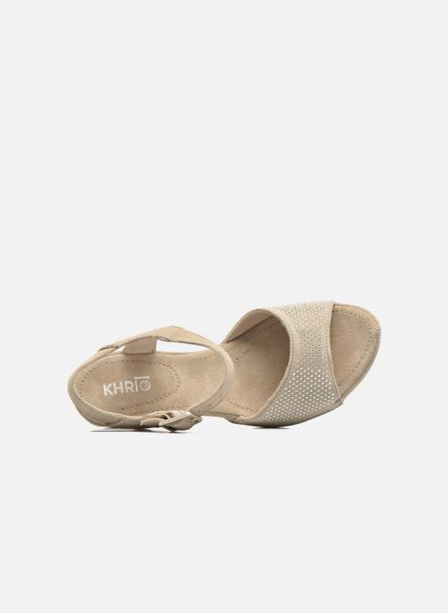Sandals Khrio Maddie Beige view from the left