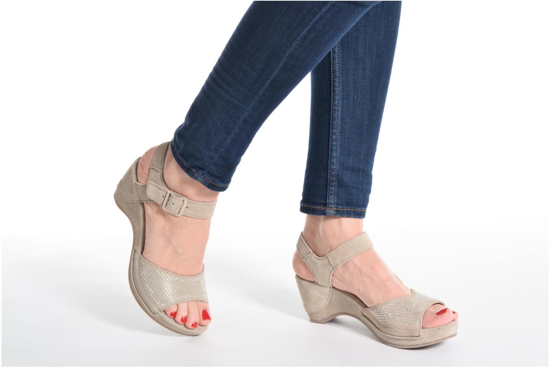 Sandales et nu-pieds Khrio Maddie Beige vue bas / vue portée sac