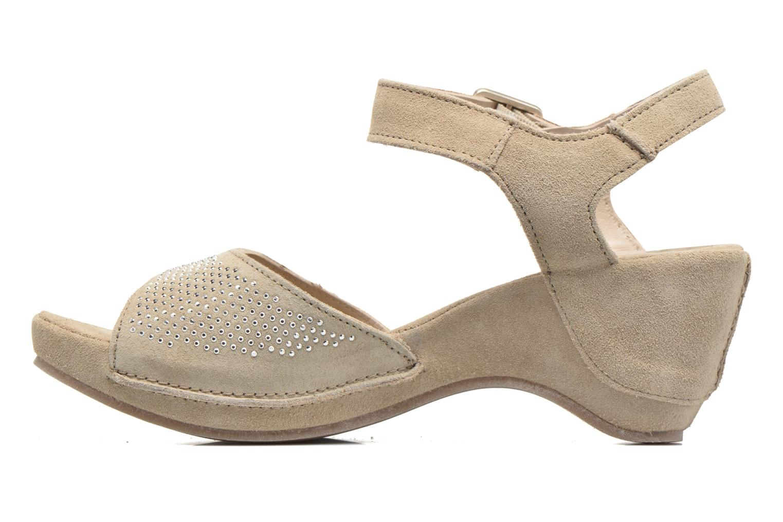 Sandales et nu-pieds Khrio Maddie Beige vue face