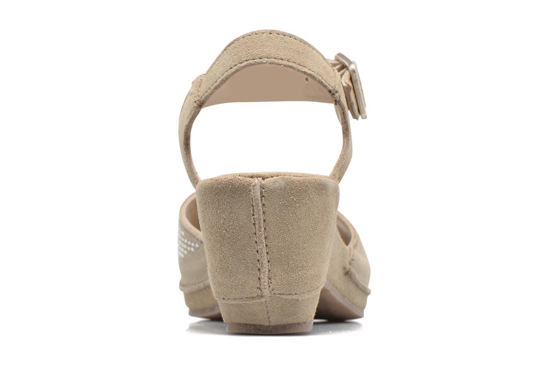 Sandales et nu-pieds Khrio Maddie Beige vue droite