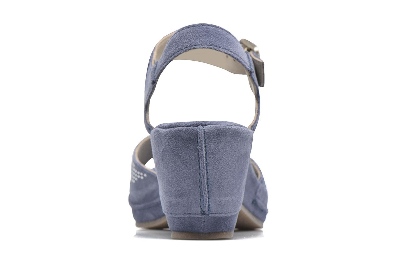 Sandales et nu-pieds Khrio Maddie Bleu vue droite