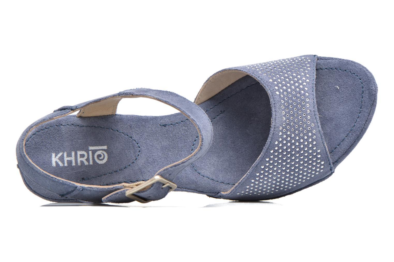Sandales et nu-pieds Khrio Maddie Bleu vue gauche