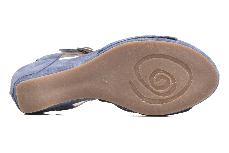 Sandales et nu-pieds Khrio Maddie Bleu vue haut