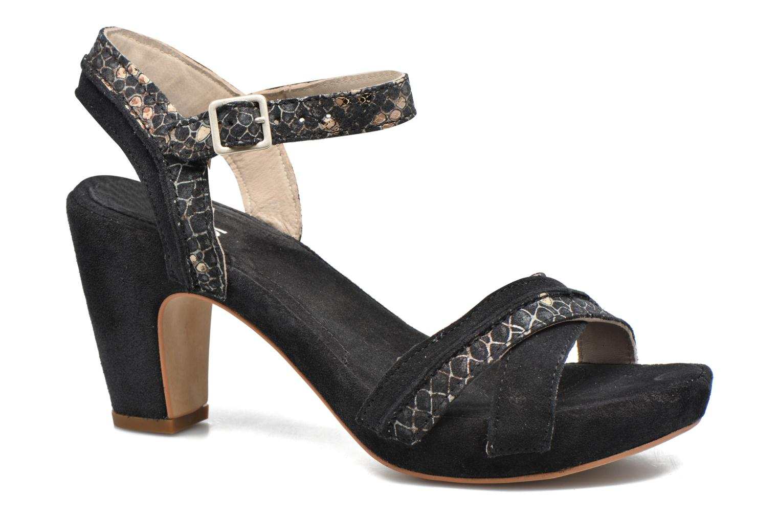 Sandals Khrio Chrisly Black detailed view/ Pair view