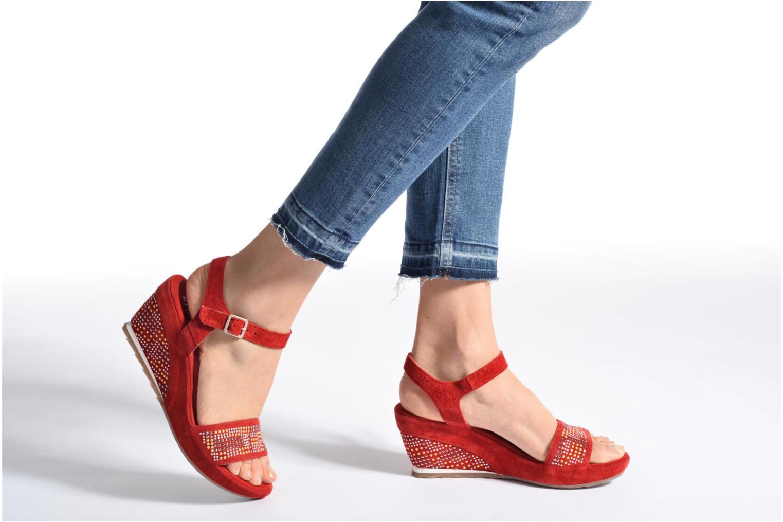 Sandales et nu-pieds Khrio Missy Bleu vue bas / vue portée sac