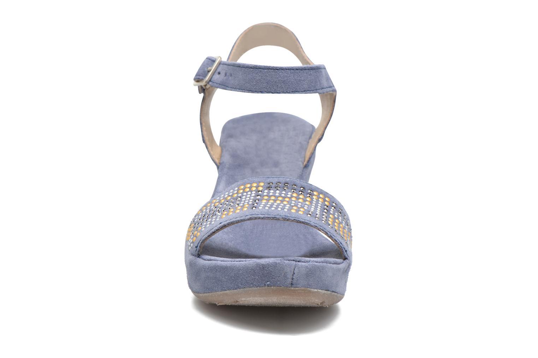 Sandales et nu-pieds Khrio Missy Bleu vue portées chaussures