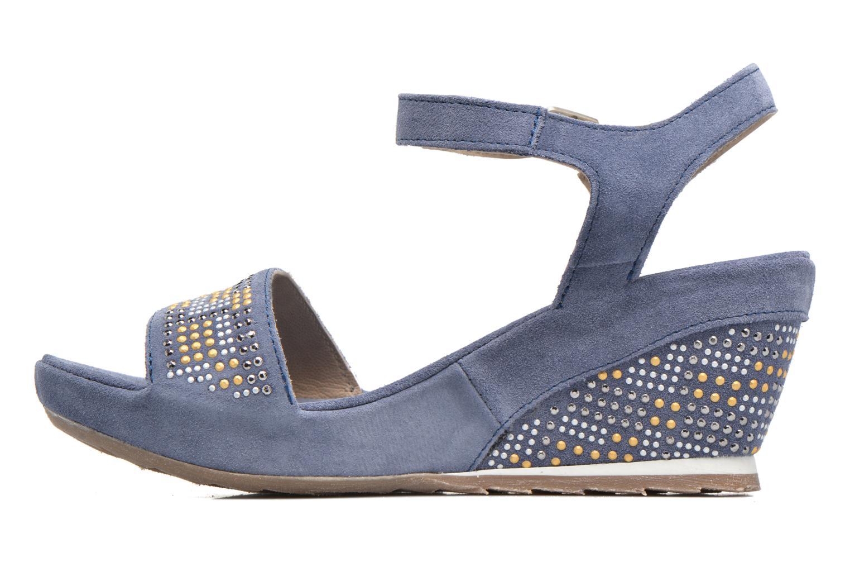 Sandales et nu-pieds Khrio Missy Bleu vue face