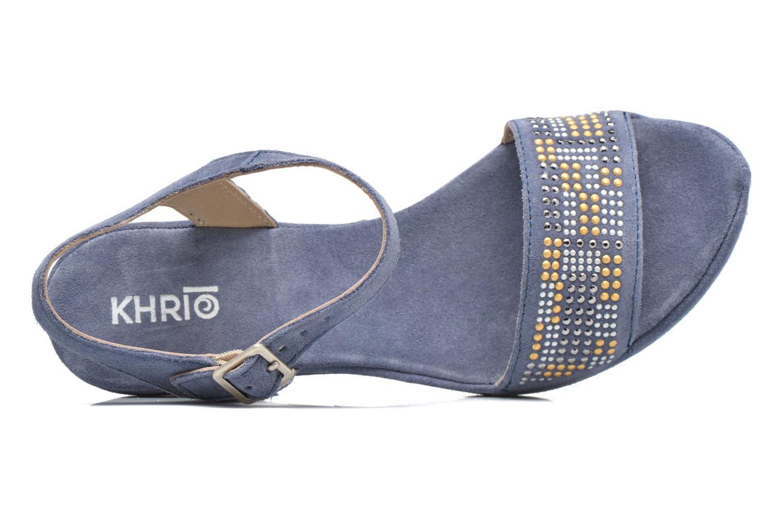 Sandales et nu-pieds Khrio Missy Bleu vue gauche