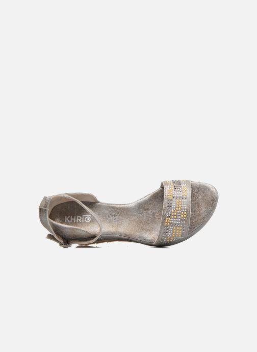 Sandales et nu-pieds Khrio Maika Gris vue gauche