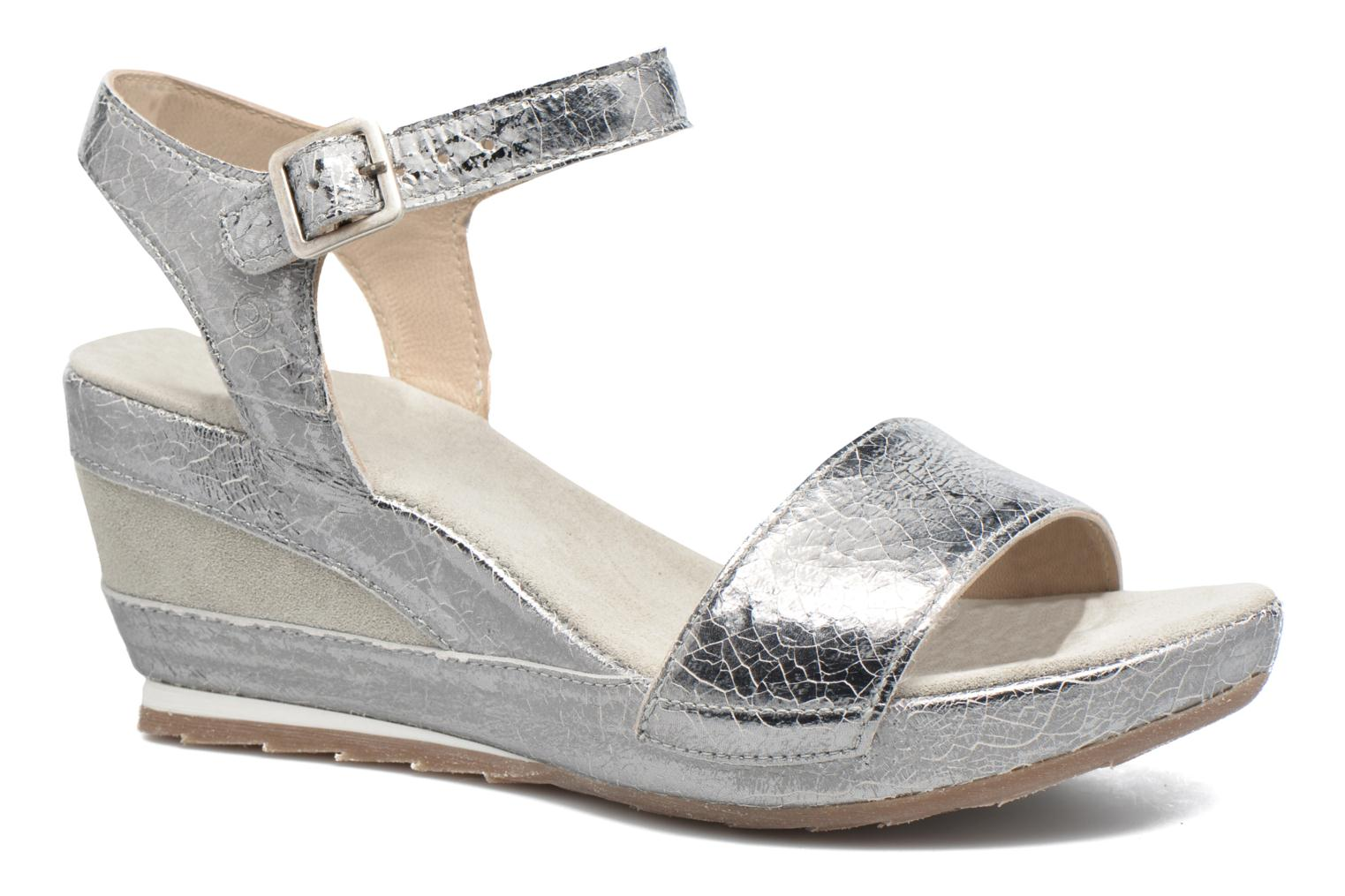 Sandals Khrio Tahia Silver detailed view/ Pair view