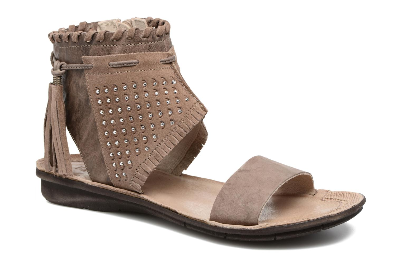 Sandals Khrio Nora Brown detailed view/ Pair view
