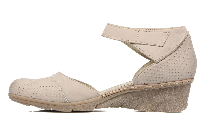 Sandales et nu-pieds Khrio Parissa Argent vue face