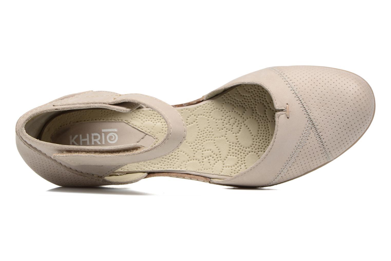 Sandales et nu-pieds Khrio Parissa Argent vue gauche