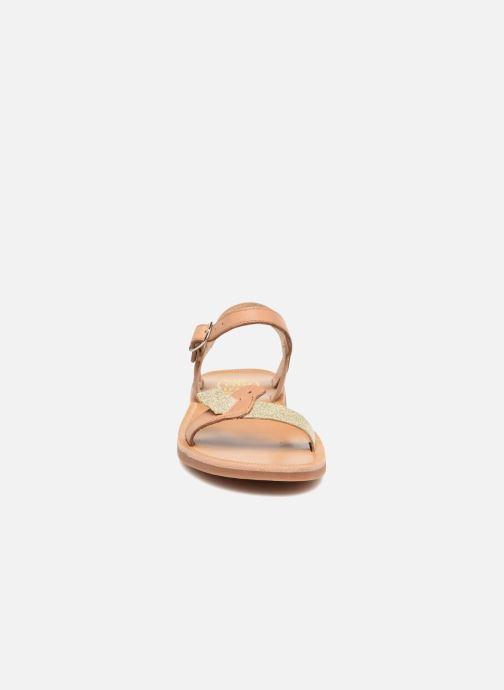 Sandales et nu-pieds Pom d Api Plagette Birds Marron vue portées chaussures