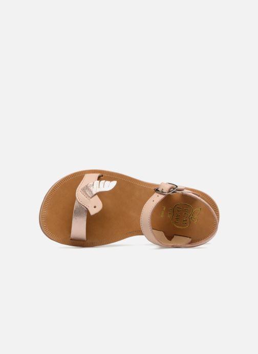 Sandales et nu-pieds Pom d Api Plagette Birds Rose vue gauche