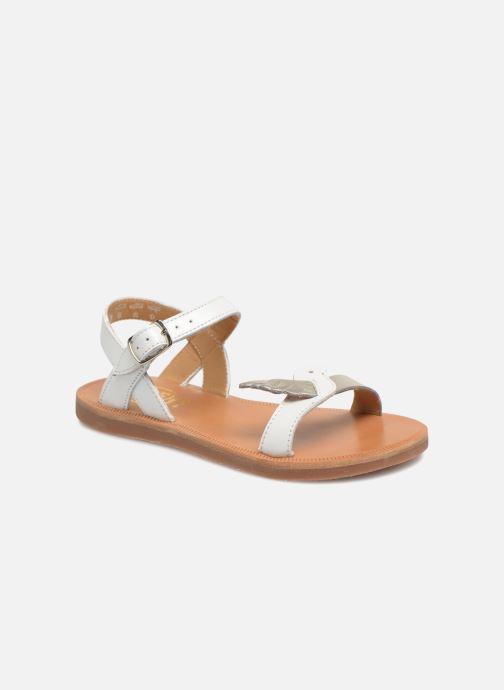 Sandales et nu-pieds Pom d Api Plagette Birds Blanc vue détail/paire