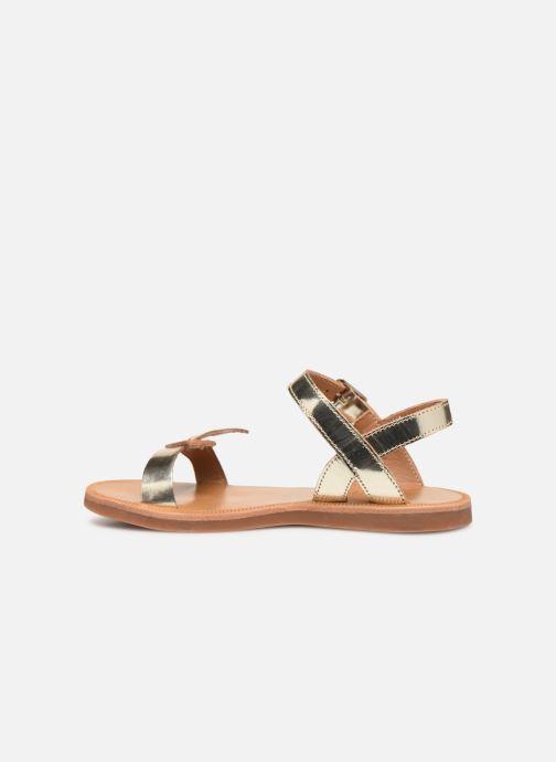 Sandales et nu-pieds Pom d Api Plagette Birds Or et bronze vue face