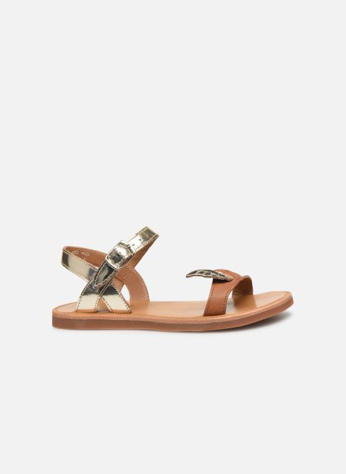 Sandales et nu-pieds Pom d Api Plagette Birds Or et bronze vue derrière