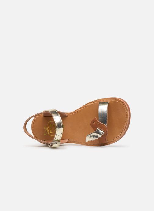 Sandales et nu-pieds Pom d Api Plagette Birds Or et bronze vue gauche