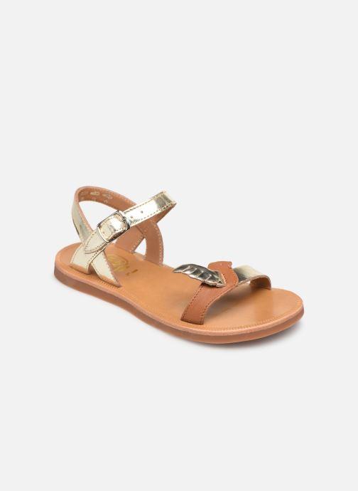 Sandales et nu-pieds Pom d Api Plagette Birds Or et bronze vue détail/paire
