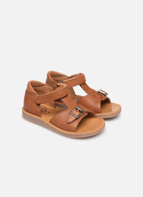 Sandales et nu-pieds Pom d Api Poppy Easy Marron vue 3/4