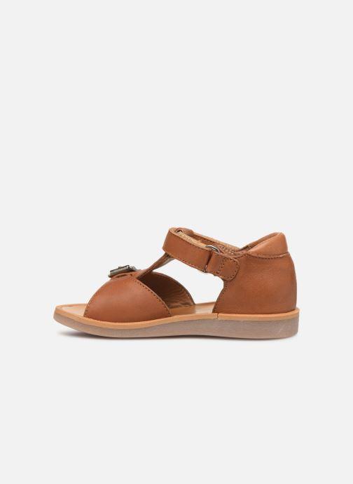 Sandales et nu-pieds Pom d Api Poppy Easy Marron vue face