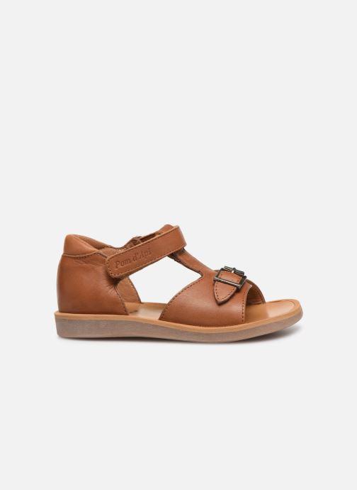 Sandales et nu-pieds Pom d Api Poppy Easy Marron vue derrière