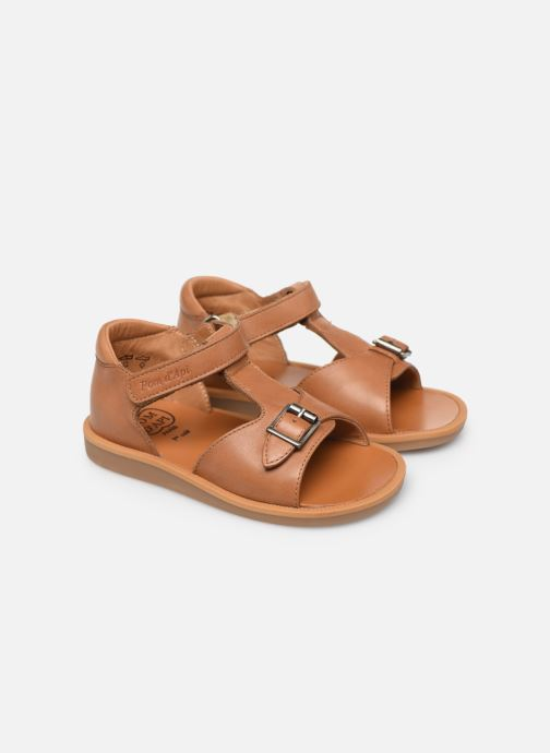Sandalias Pom d Api Poppy Easy Marrón vista 3/4