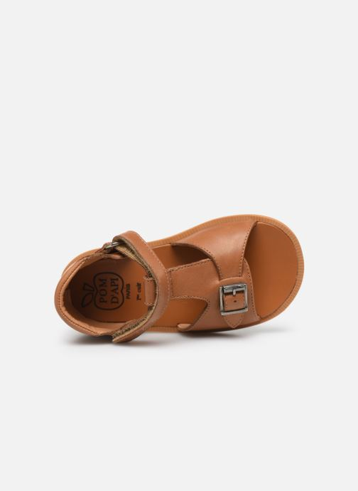 Sandales et nu-pieds Pom d Api Poppy Easy Marron vue gauche
