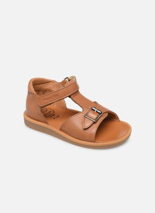 Sandales et nu-pieds Pom d Api Poppy Easy Marron vue détail/paire