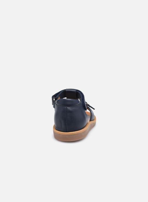 Sandalias Pom d Api Poppy Easy Azul vista lateral derecha
