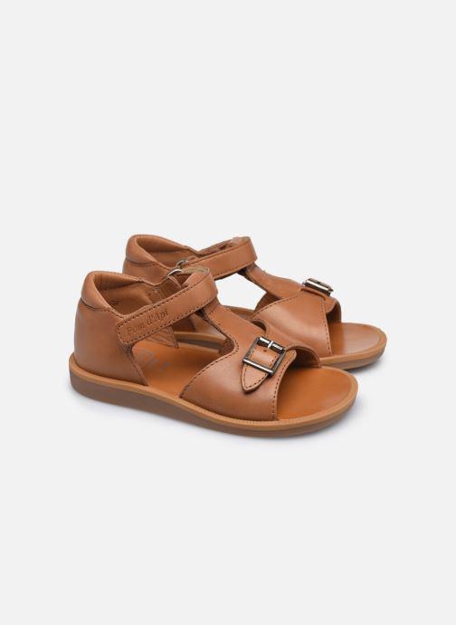 Sandali e scarpe aperte Pom d Api Poppy Easy Marrone immagine 3/4